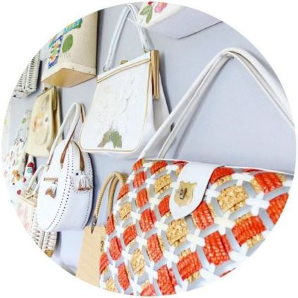 Vintage handbags on Kate Beavis Vintage Home blog