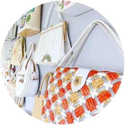 Vintage handbags on Kate Beavis Vintage Home blog