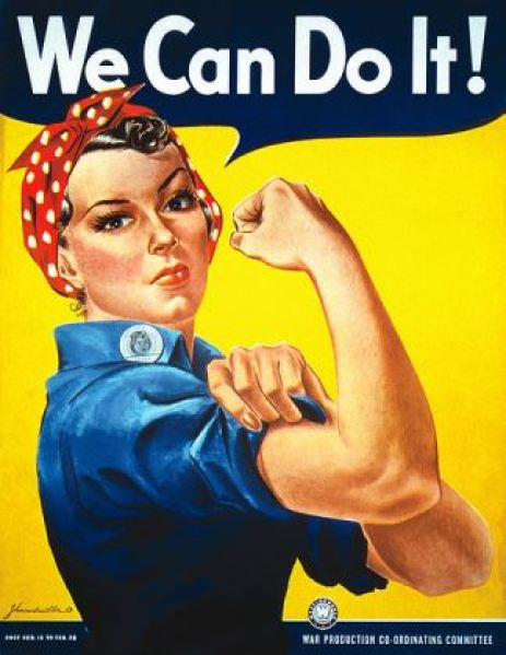 We Can Do It WW2 poster on Kate Beavis Vintage Home blog