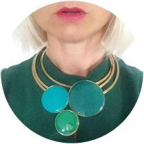 Danish enamel 1960s style choker on Kate Beavis vintage home blog