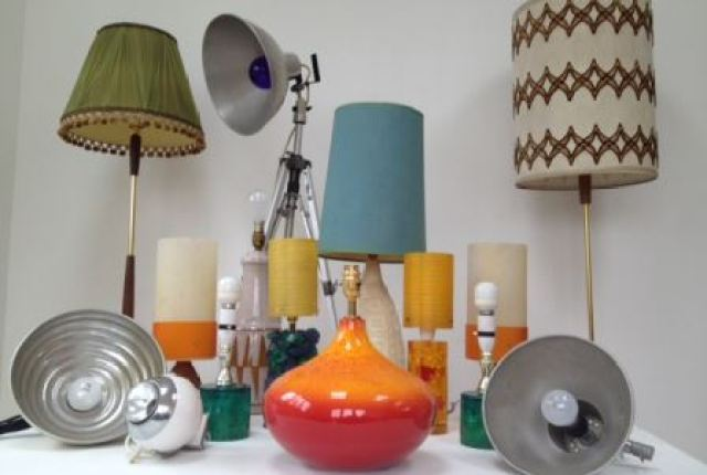 Vintage lighting by Kate Beavis vintage home