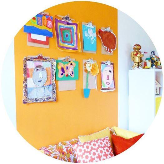 Vintage orange kids playroom