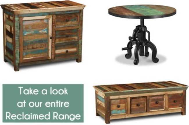 Vintage Styling Tips - reclaimed materials - vintage reclaimed wooden furniture via Your Vintage Life by Kate Beavis