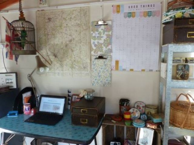 vintage office study by Kate Beavis