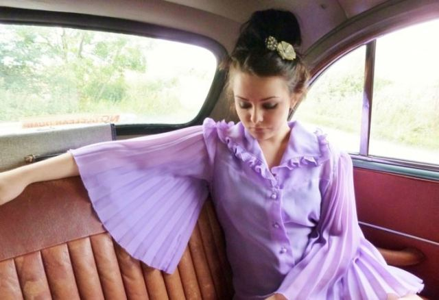 1950s vintage blouse by Kate Beavis
