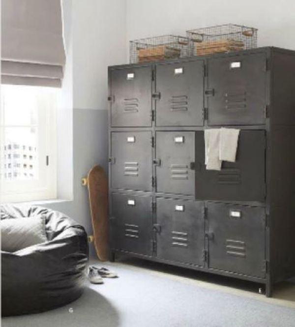 Grey storage interior design ideas from Kate Beavis