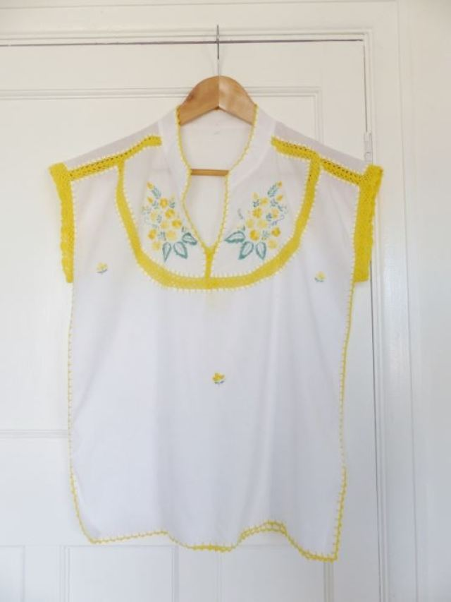 vintage 1970s peasant top by Kate Beavis