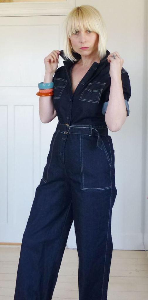 Freddies of Pinewood's Grease Monkey denim junp suit reviewed by Kate Beavis
