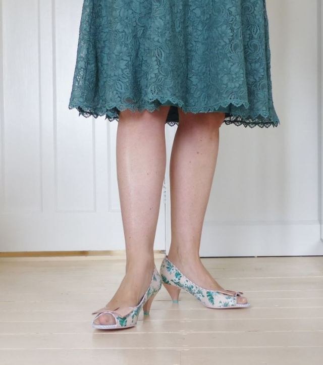 babycham vintage style shoes, Monsoon dress with Kate Beavis Vintage Home