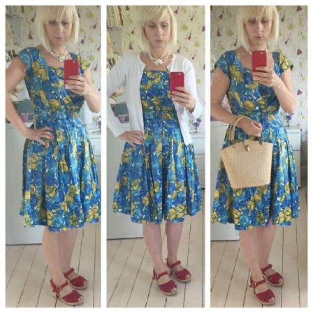 Vintage fashion dress as seen on kate Beavis Vintage Home blog
