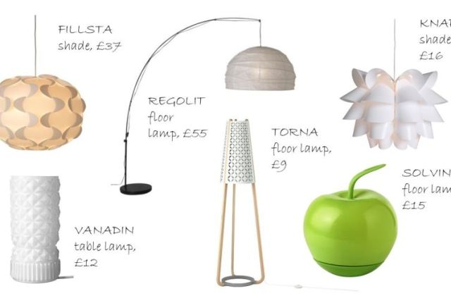 Vintage inspired lighting by Ikea as seen on Kate Beavis Home blog