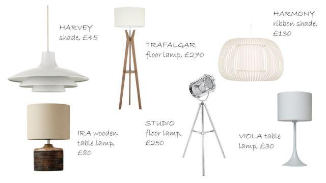 Slide2Vintage inspired lighting by John Lewis as seen on Kate Beavis Home blog