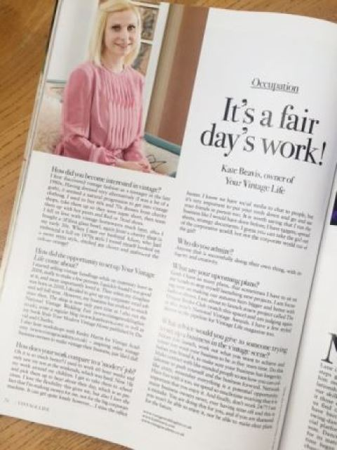 Kate Beavis Vintage Life mag interview