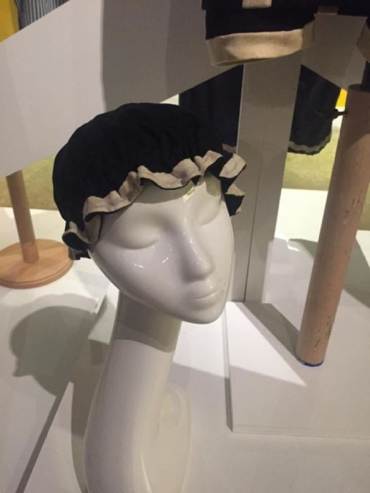 Vintage Victorian/Edwardian swimwear swimming hat as featured on Kate Beavis Vintage Blog (from the F&T museum)