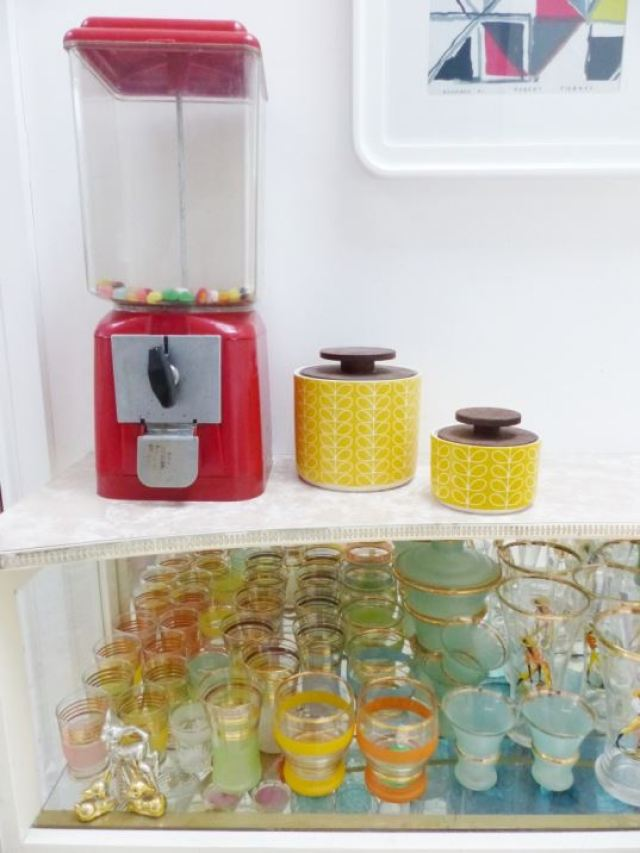 Yellow Orla Kiely sugar bowls as featured on Kate Beavis Vintage Home blog