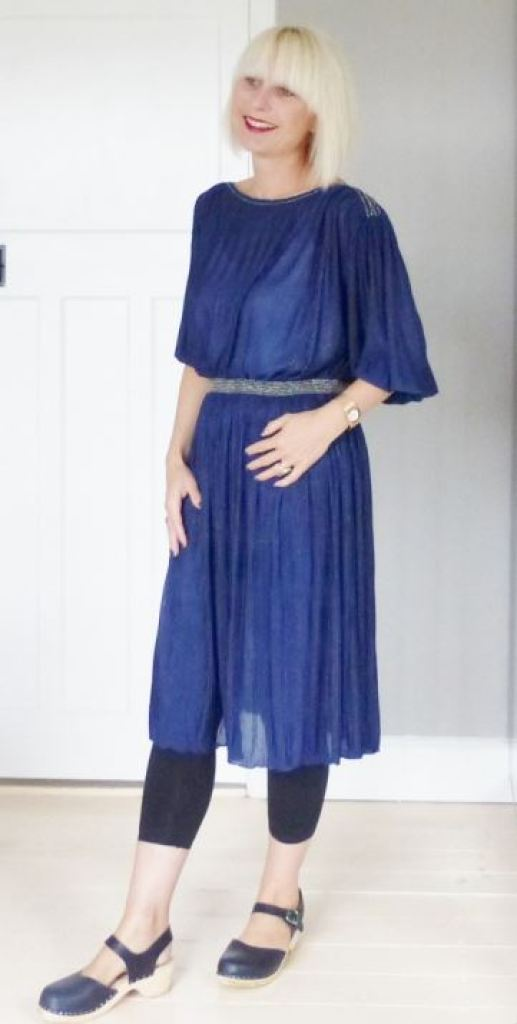 Vintage 1970s pleated dress fashion by Kate Beavis Vintage Home blog