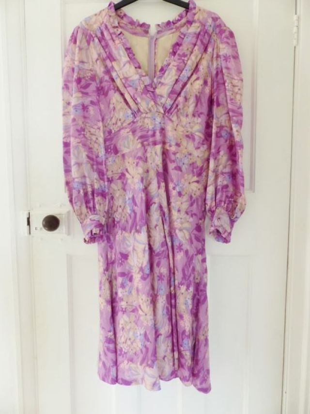 Vintage purple dress as featured on Kate Beavis Vintage Blog