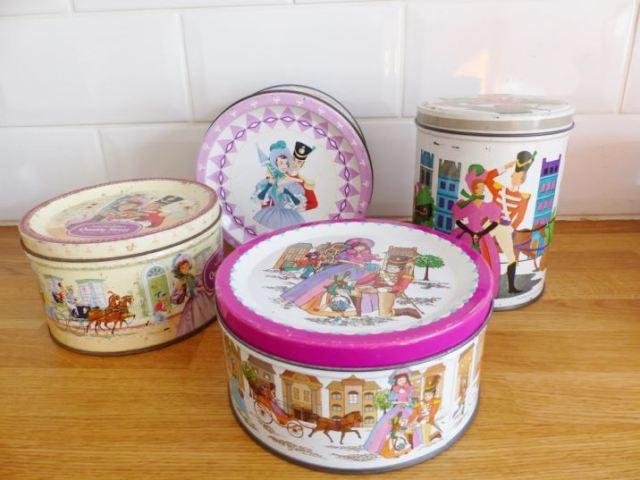 Vintage Quality Street tin as featured on Kate Beavis Vintage Home blog