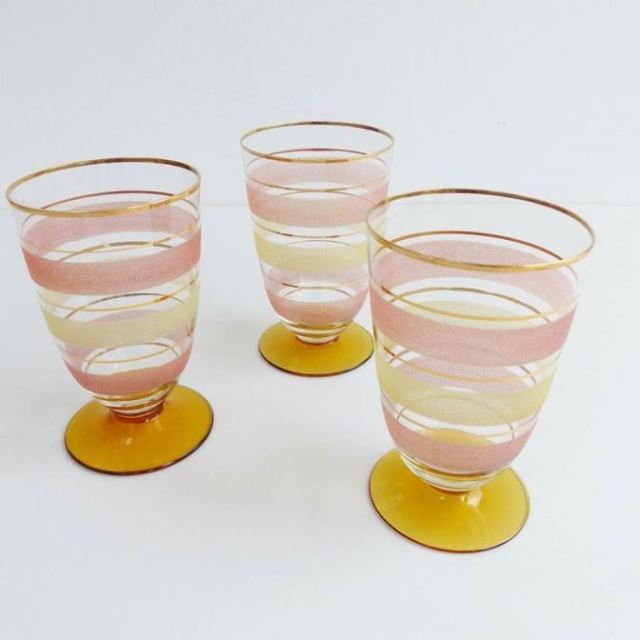 Vintage glasses as featured on Kate Beavis Vintage Home blog about being teetotal