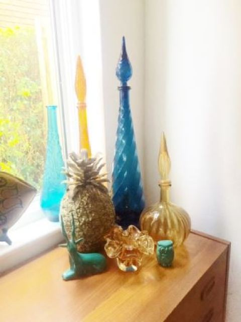 Vintage pineapple ice bucket as featured in Kate Beavis Vintage Home