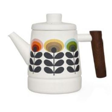 Vintage style Orla Kiely saucepans as featured on Kate Beavis Vintage Home blog 2 kettle