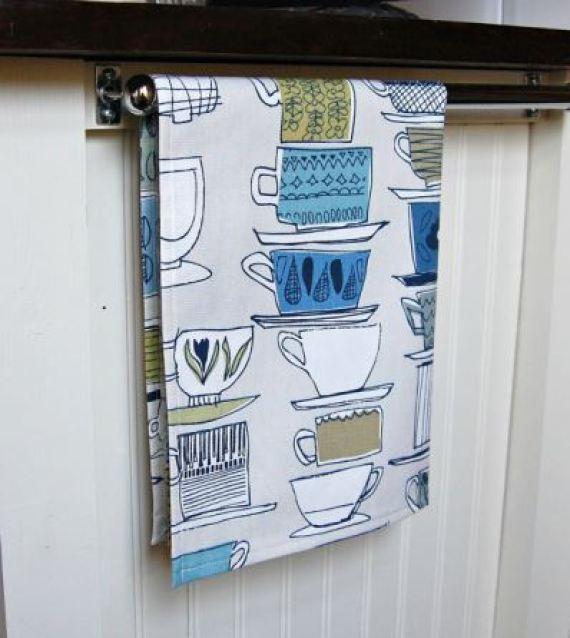 vintage style tea towel as featured on Kate Beavis Vintage Home blog