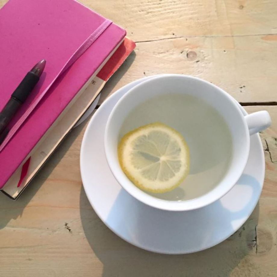 lemon hot water healthy living from Kate Beavis Vintage Home blog