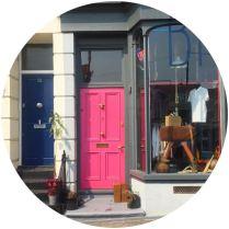 pink front door in Margate on Kate Beavis blog