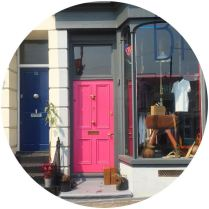 pink front door in Margate on Kate Beavis blog