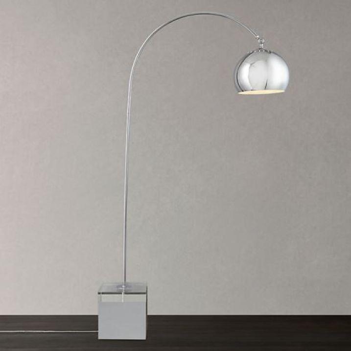 John Lewis arc lamp as featured in Kate Beavis vintage home blog