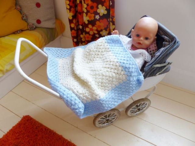 Vintage dolls pram as featured on Kate Beavis Vintage Home blog