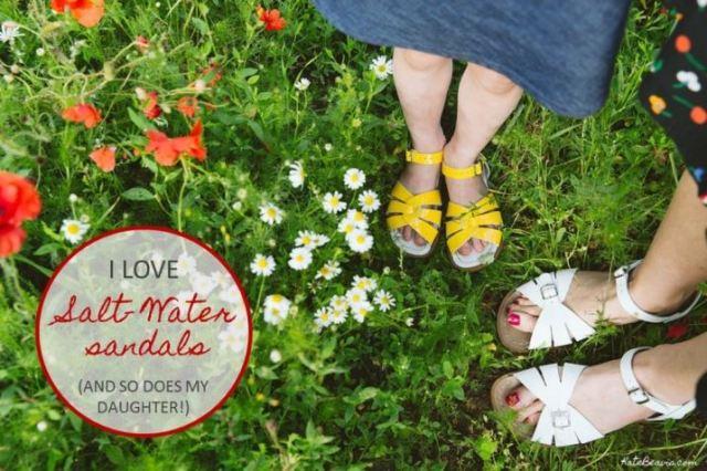 I love Salt-Water Sandals by Kate Beavis.com