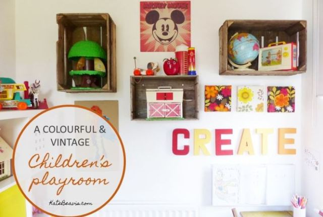 A vintage childrens kids room by Kate Beavis.com