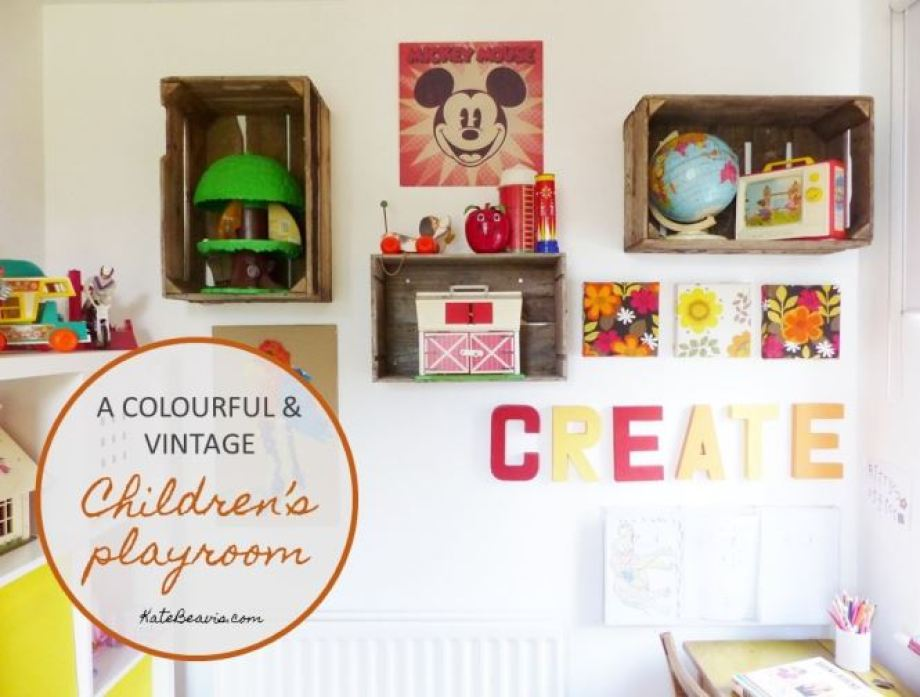 A vintage children's room by Kate Beavis.com