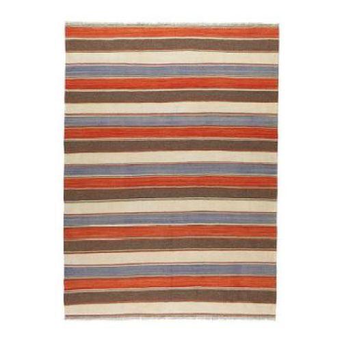 Ikea striped woven rug as featured on Kate Beavis.com blog