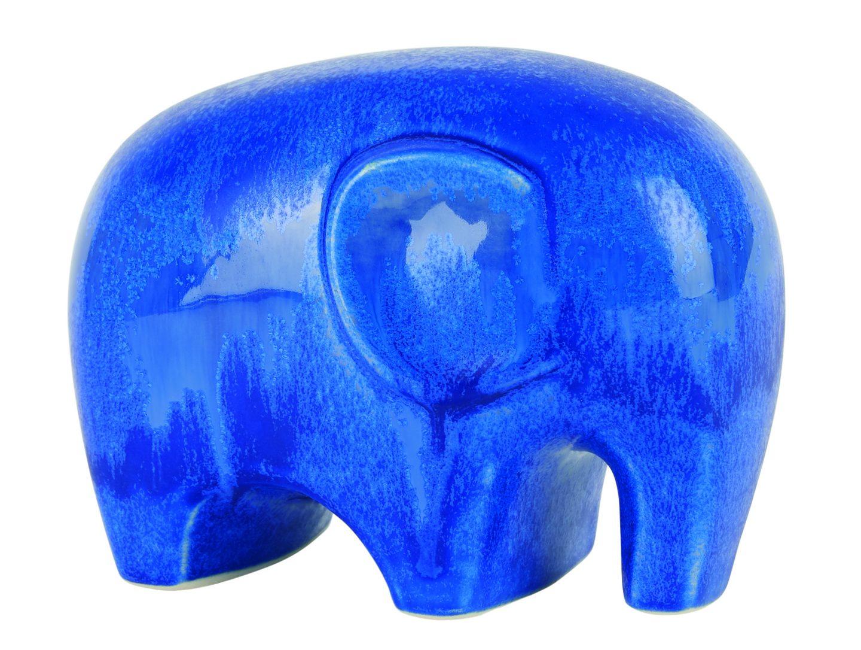 Blue ceramic elephant by Habitat