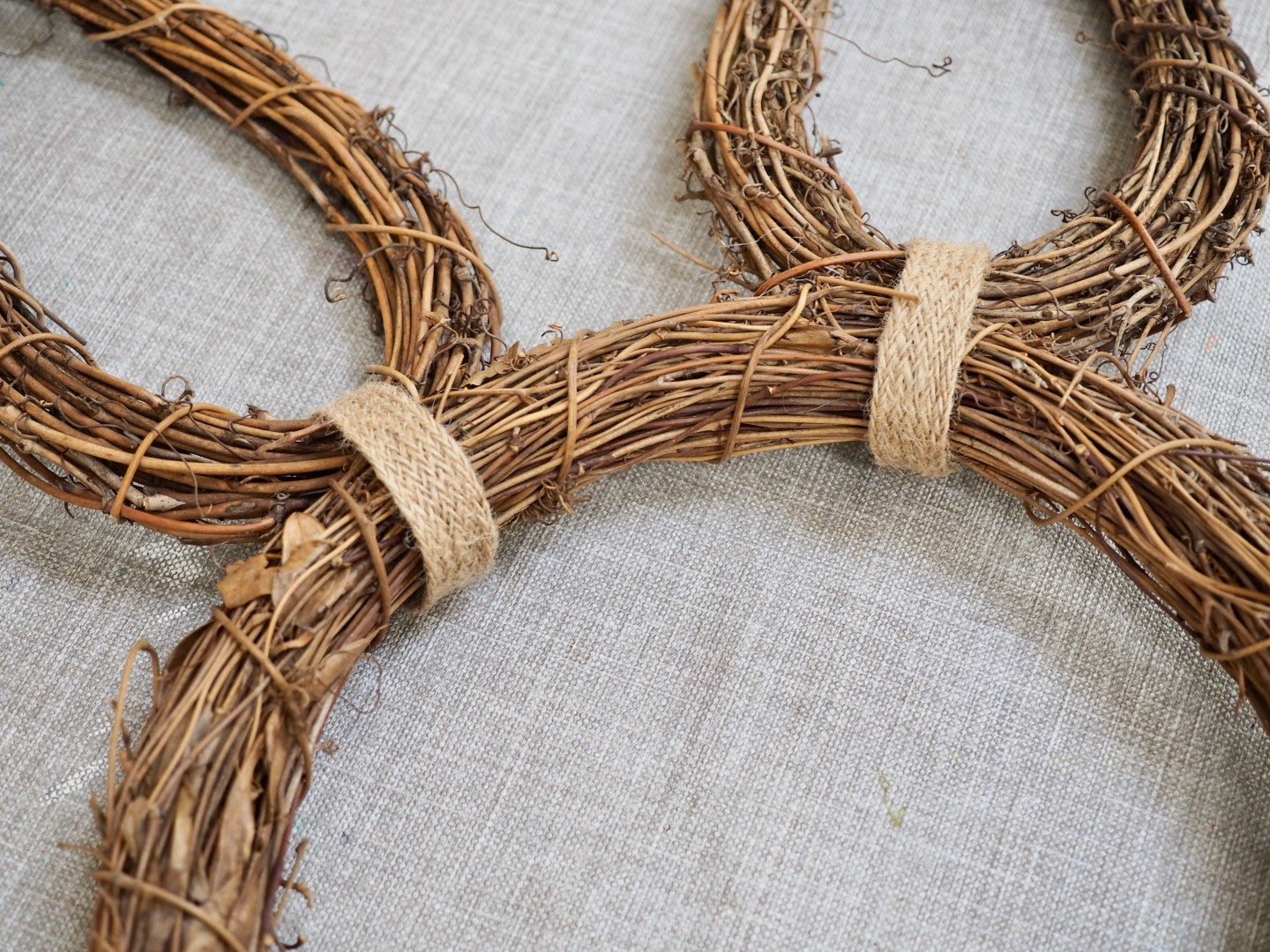 How To Make An Easter Bunny Wreath With Wooden Orange Carrots