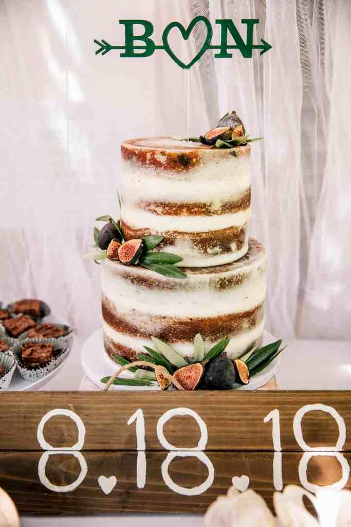 Wedding cake at SoCal wedding
