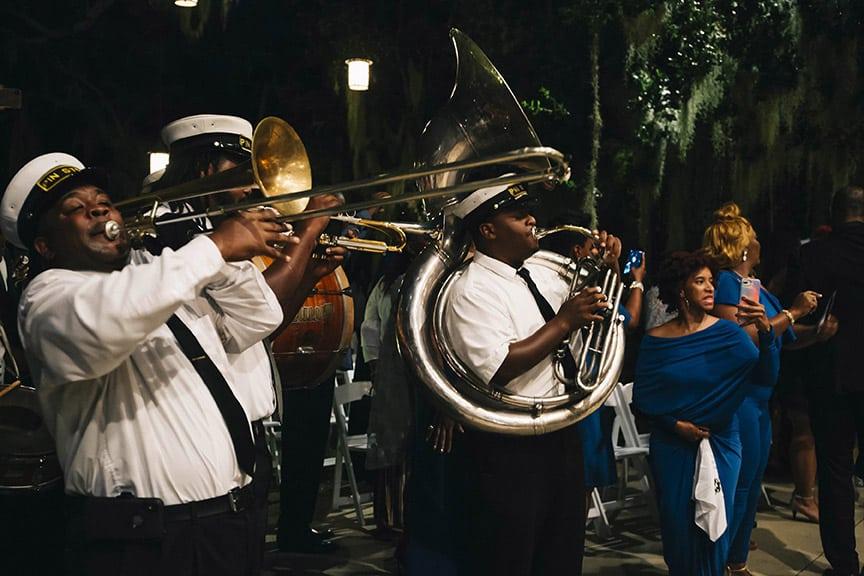 jazz band at a wedding
