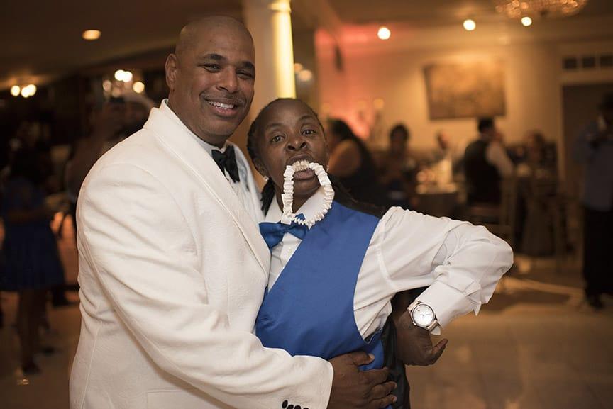 groom and garter toss