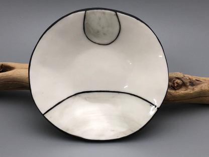 Black and White Wood Grain Inspired Porcelain dish
