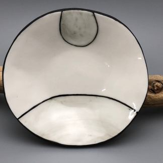 Black and White Wood Grain Inspired Porcelain dish