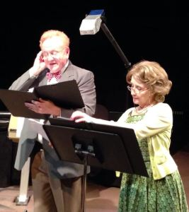 """Mel Chadwick and Deborah McFatter in a production of my first play, """"Goodnight Gracie."""""""