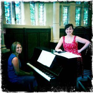 I'm singing at my friend Bridget's wedding in London!