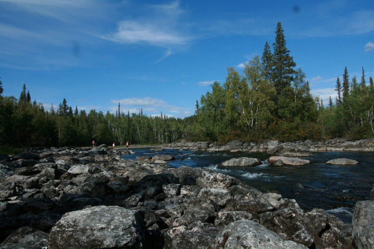 Fishing Lake Yellowknife Yoga Teacher Training Land and Heart Practice