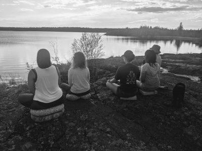 Yellowknife Yoga Teacher Training outdoor kirtan