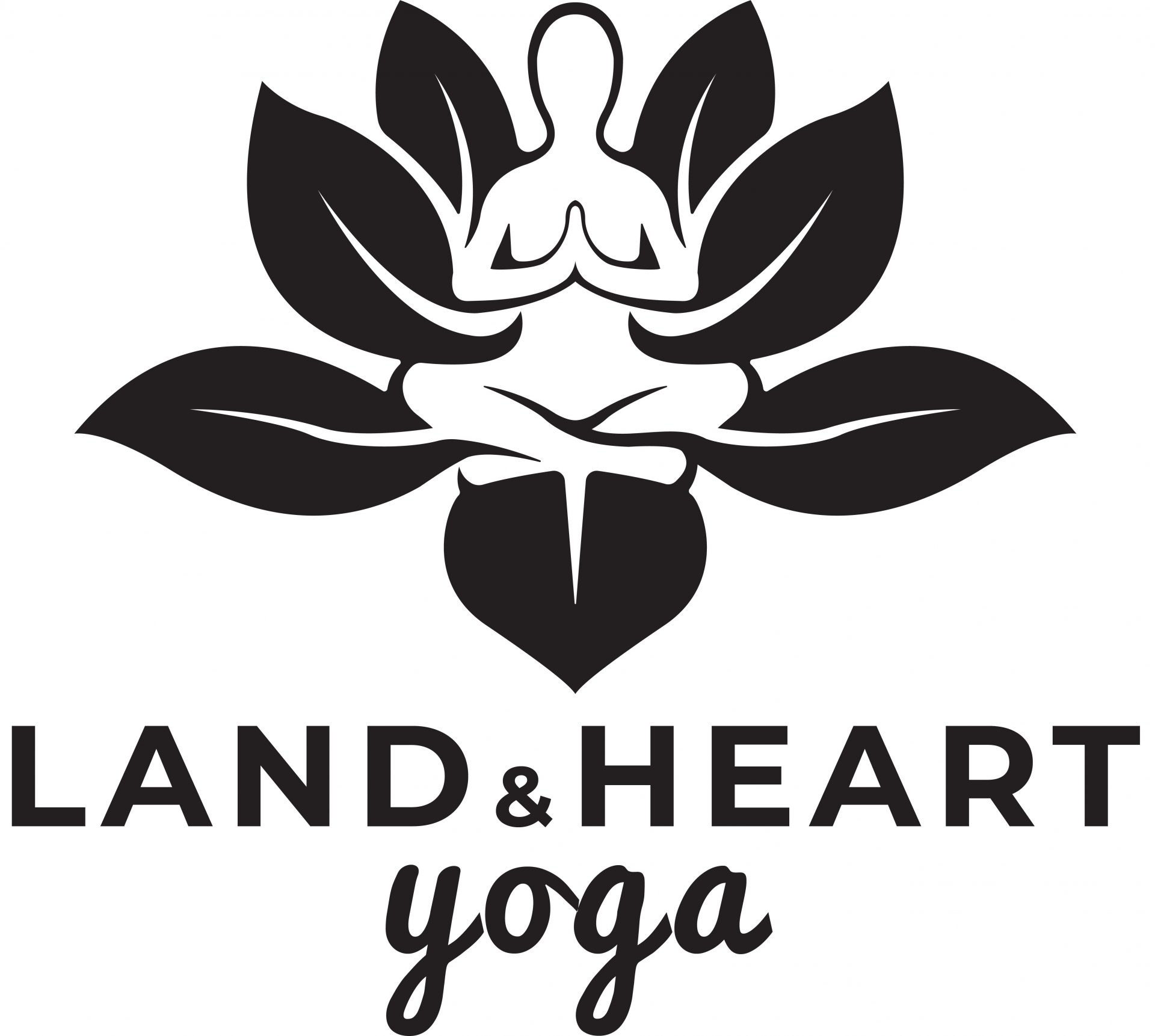 land and heart yoga logo Online Yoga Teacher Training