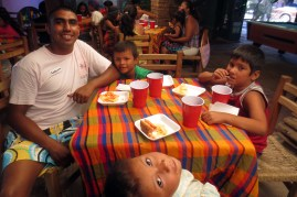 Carlos at the kids' table!