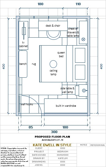 E-DESIGN KATE DWELL IN STYLE 2D FLOOR PLAN