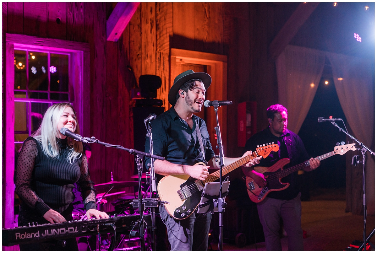 Midnight City performs at Boone Hall wedding reception